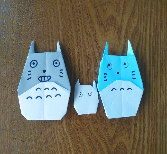 折り紙でつくる簡単かわいいトトロまとめ