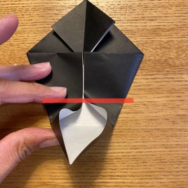 折り紙のカオナシ*折り方作り方 (17)