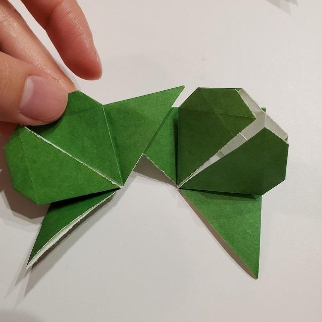 折り紙のクローバー(4枚ver折り方・作り方2四葉へ (1)