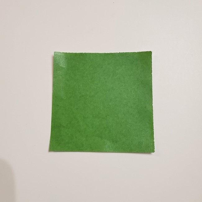 折り紙のクローバー(4枚ver)*折り方・作り方1葉っぱ (1)
