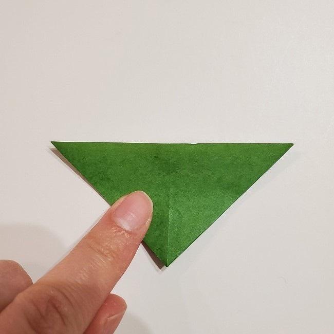 折り紙のクローバー(4枚ver)*折り方・作り方1葉っぱ (10)