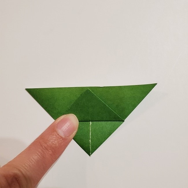 折り紙のクローバー(4枚ver)*折り方・作り方1葉っぱ (11)