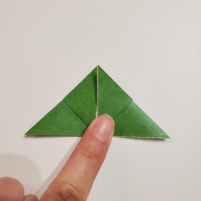 折り紙のクローバー(4枚ver)*折り方・作り方1葉っぱ (12)