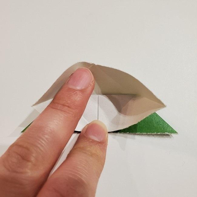 折り紙のクローバー(4枚ver)*折り方・作り方1葉っぱ (13)