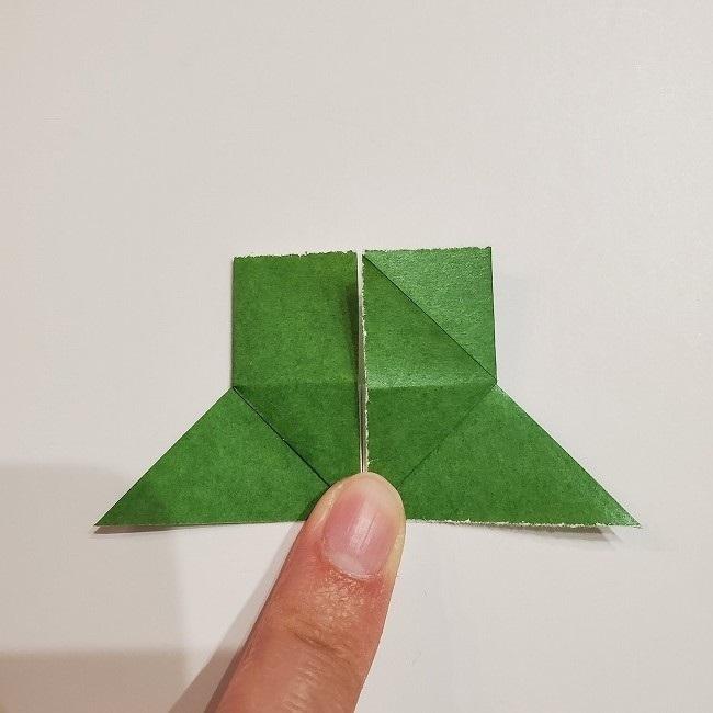 折り紙のクローバー(4枚ver)*折り方・作り方1葉っぱ (14)