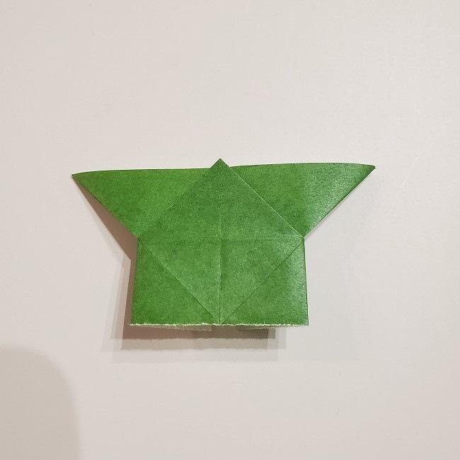 折り紙のクローバー(4枚ver)*折り方・作り方1葉っぱ (15)