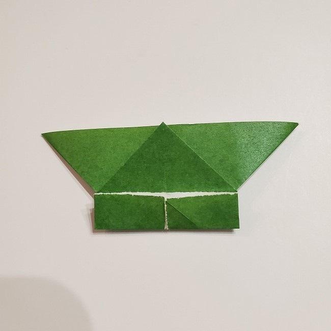 折り紙のクローバー(4枚ver)*折り方・作り方1葉っぱ (16)
