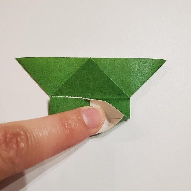 折り紙のクローバー(4枚ver)*折り方・作り方1葉っぱ (17)