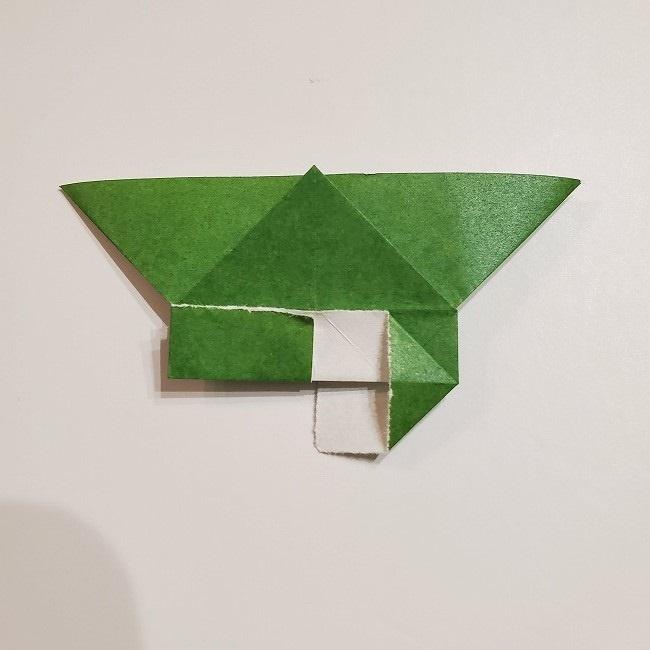折り紙のクローバー(4枚ver)*折り方・作り方1葉っぱ (18)