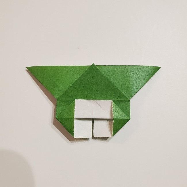 折り紙のクローバー(4枚ver)*折り方・作り方1葉っぱ (19)