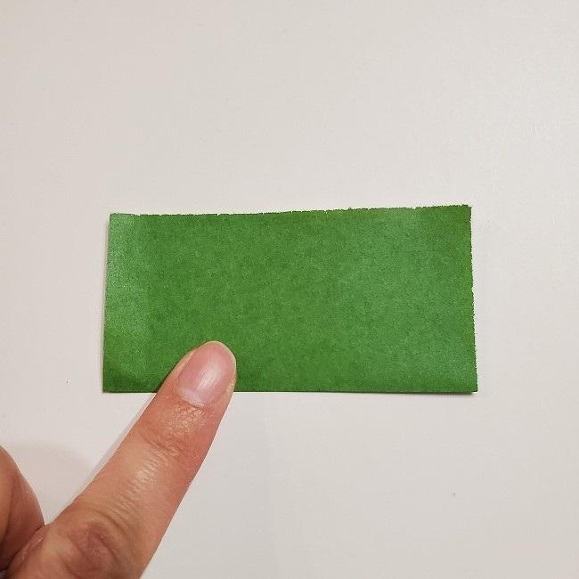 折り紙のクローバー(4枚ver)*折り方・作り方1葉っぱ (2)
