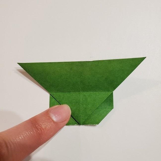 折り紙のクローバー(4枚ver)*折り方・作り方1葉っぱ (21)