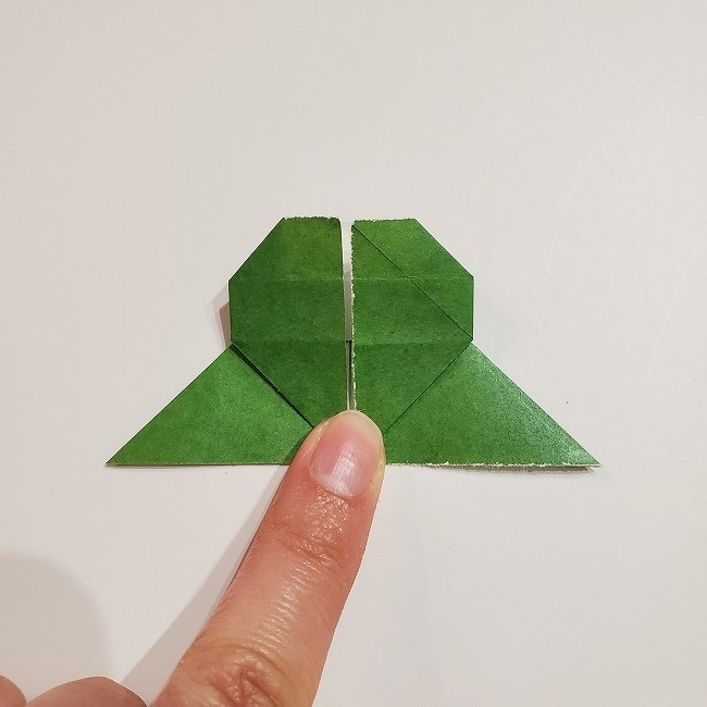 折り紙のクローバー(4枚ver)*折り方・作り方1葉っぱ (22)