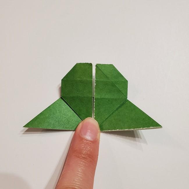 折り紙のクローバー(4枚ver)*折り方・作り方1葉っぱ (24)