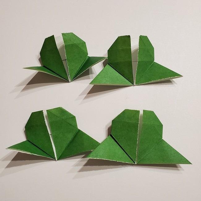 折り紙のクローバー(4枚ver)*折り方・作り方1葉っぱ (25)