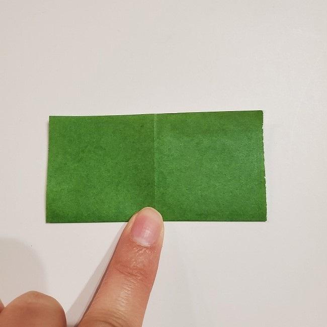 折り紙のクローバー(4枚ver)*折り方・作り方1葉っぱ (3)