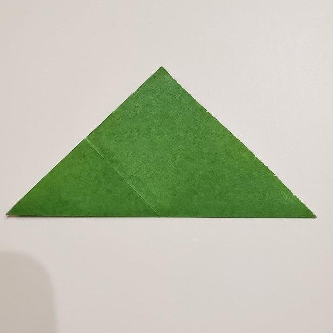 折り紙のクローバー(4枚ver)*折り方・作り方1葉っぱ (4)
