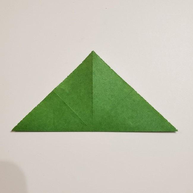 折り紙のクローバー(4枚ver)*折り方・作り方1葉っぱ (5)