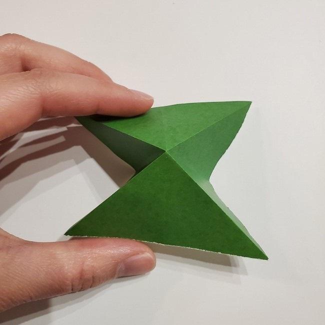 折り紙のクローバー(4枚ver)*折り方・作り方1葉っぱ (7)