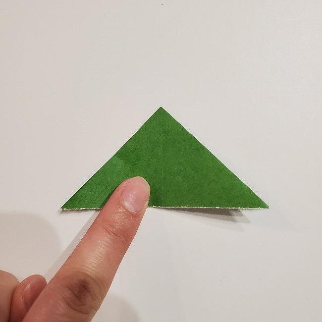 折り紙のクローバー(4枚ver)*折り方・作り方1葉っぱ (8)