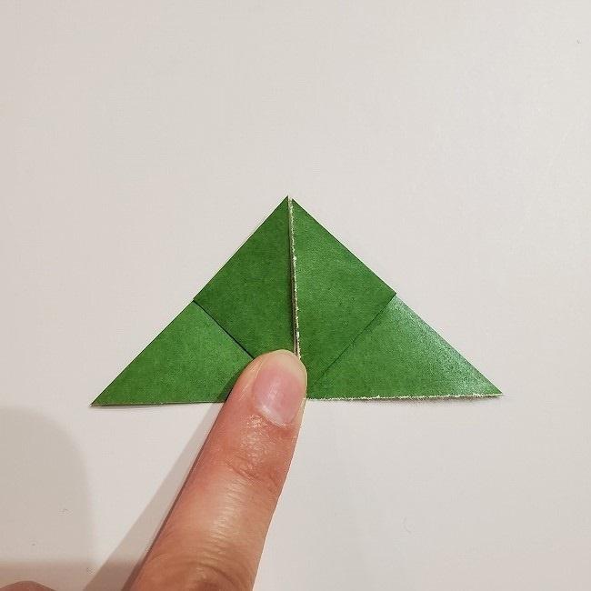 折り紙のクローバー(4枚ver)*折り方・作り方1葉っぱ (9)