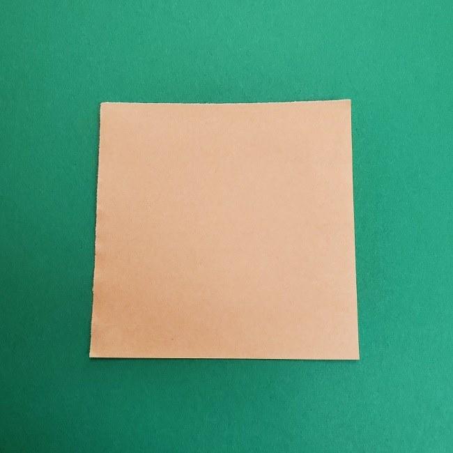 折り紙のサトシの作り方折り方1顔 (1)