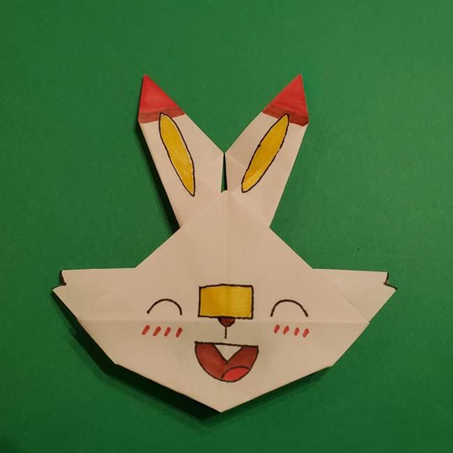 折り紙のヒバニーの折り方☆ポケんちでも話題!子供と作るかわいいポケモン!