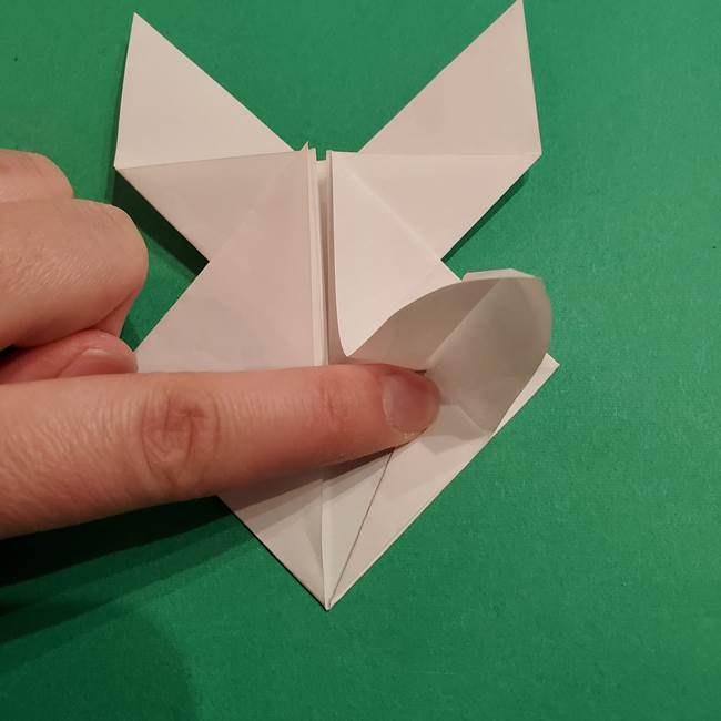 折り紙のヒバニーの折り方☆ポケットモンスター(29)