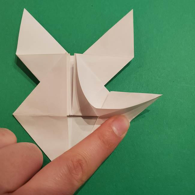 折り紙のヒバニーの折り方☆ポケットモンスター(30)