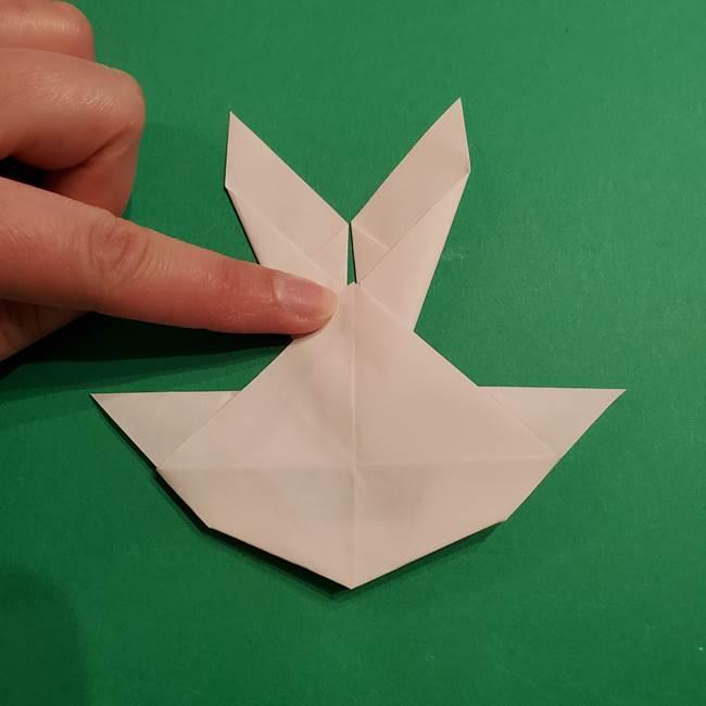 折り紙のヒバニーの折り方☆ポケットモンスター(40)
