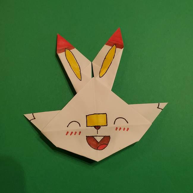 折り紙のヒバニーの折り方☆ポケットモンスター(41)