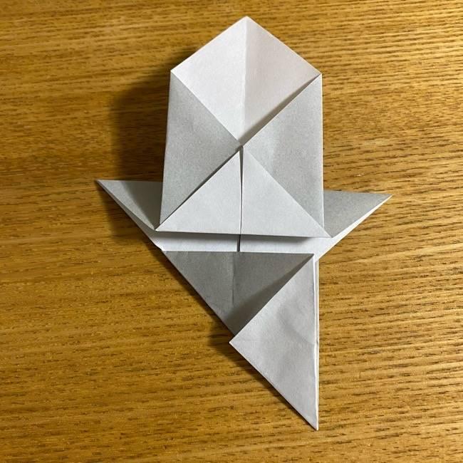 折り紙のフクロウはリアルでかわいい♪折り方作り方 (19)