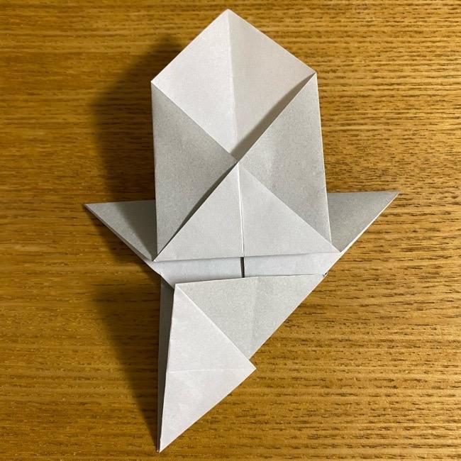 折り紙のフクロウはリアルでかわいい♪折り方作り方 (21)