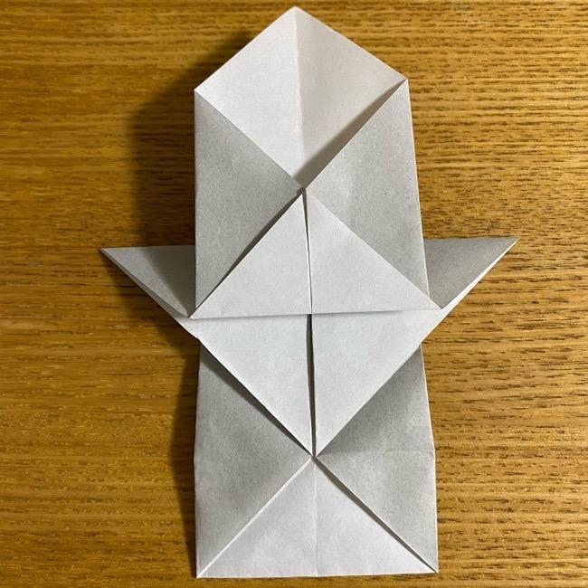 折り紙のフクロウはリアルでかわいい♪折り方作り方 (22)