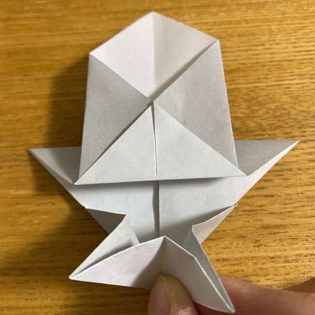 折り紙のフクロウはリアルでかわいい♪折り方作り方 (24)