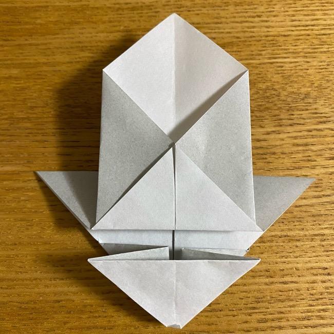 折り紙のフクロウはリアルでかわいい♪折り方作り方 (25)