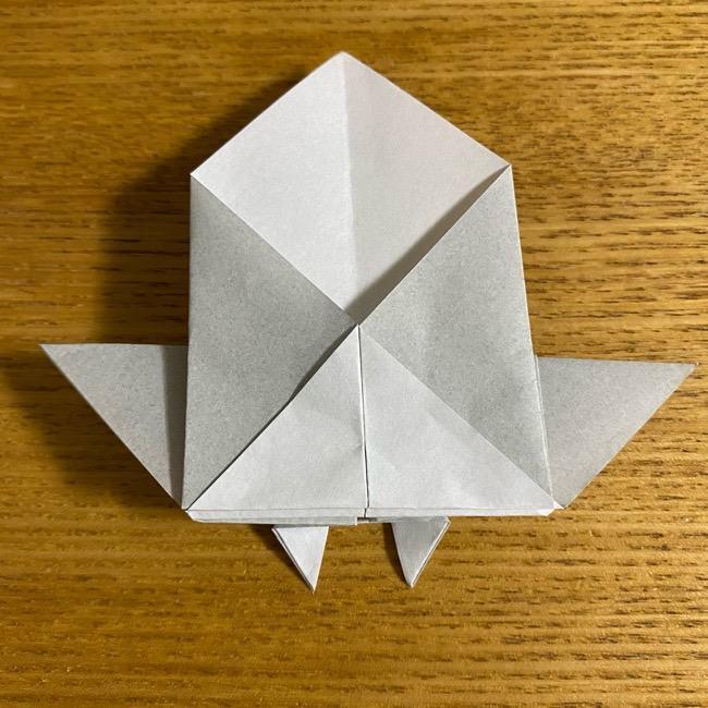折り紙のフクロウはリアルでかわいい♪折り方作り方 (30)