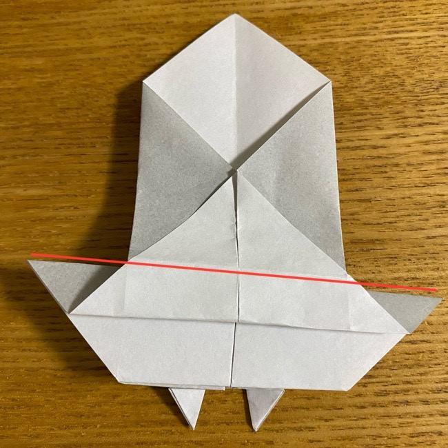 折り紙のフクロウはリアルでかわいい♪折り方作り方 (31)