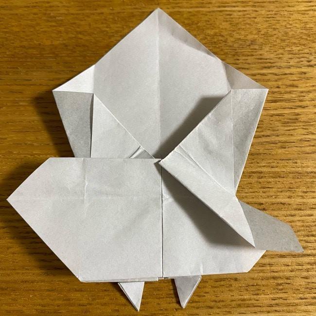 折り紙のフクロウはリアルでかわいい♪折り方作り方 (36)