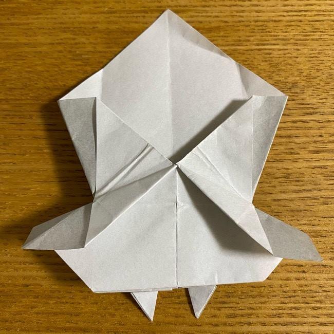 折り紙のフクロウはリアルでかわいい♪折り方作り方 (37)
