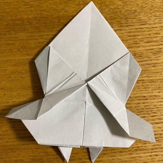 折り紙のフクロウはリアルでかわいい♪折り方作り方 (41)