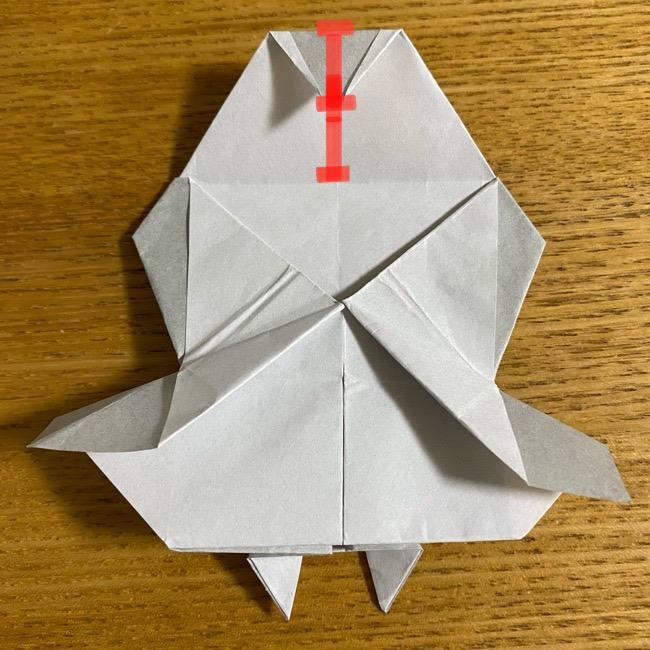折り紙のフクロウはリアルでかわいい♪折り方作り方 (44)