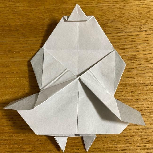 折り紙のフクロウはリアルでかわいい♪折り方作り方 (45)