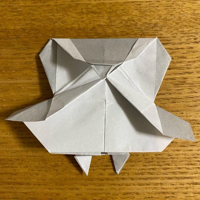折り紙のフクロウはリアルでかわいい♪折り方作り方 (47)