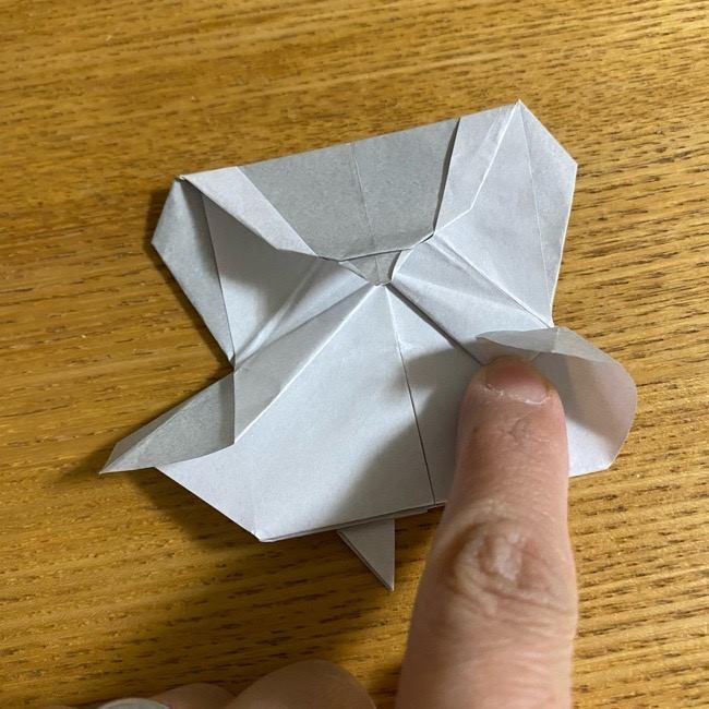 折り紙のフクロウはリアルでかわいい♪折り方作り方 (48)