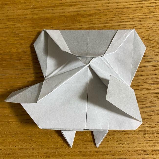 折り紙のフクロウはリアルでかわいい♪折り方作り方 (49)