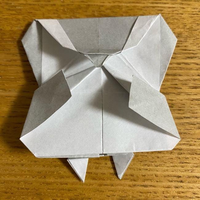 折り紙のフクロウはリアルでかわいい♪折り方作り方 (50)