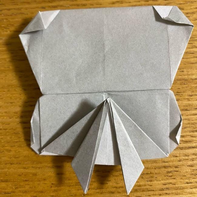 折り紙のフクロウはリアルでかわいい♪折り方作り方 (54)