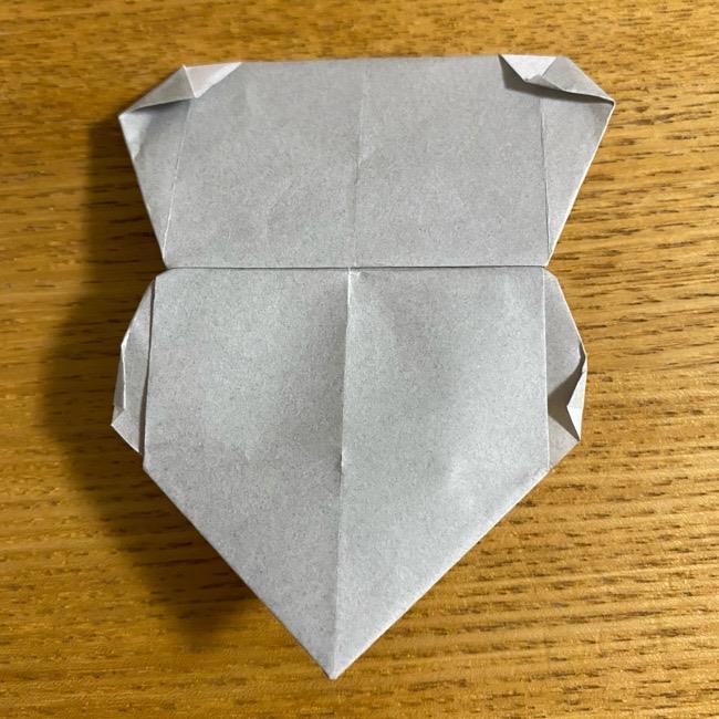 折り紙のフクロウはリアルでかわいい♪折り方作り方 (55)