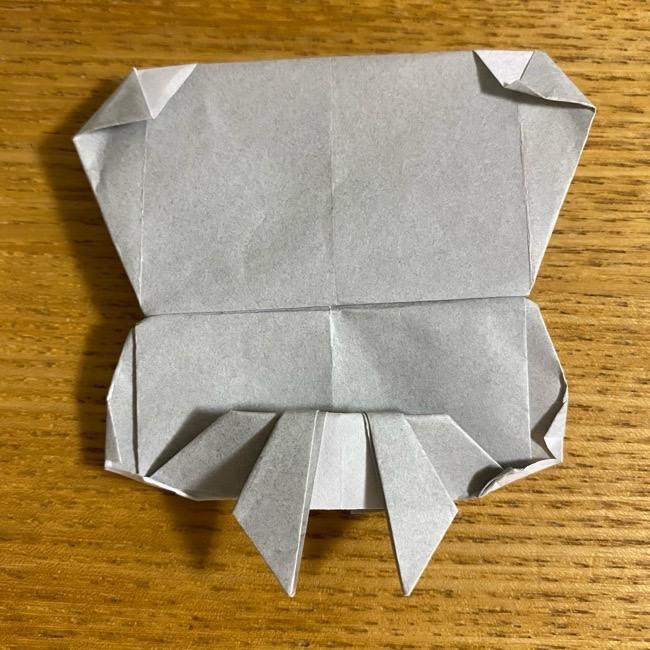 折り紙のフクロウはリアルでかわいい♪折り方作り方 (58)